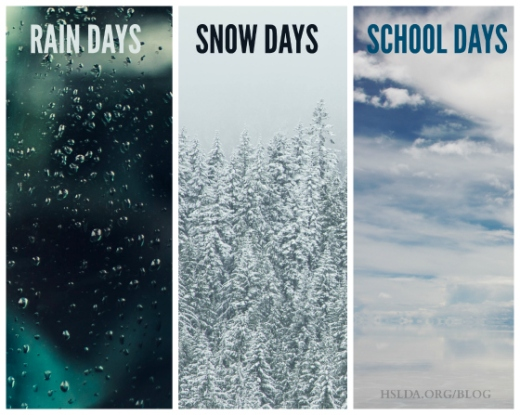 BLG SZ - Rain Days Snow Days School Days - RF - HSLDA Blog