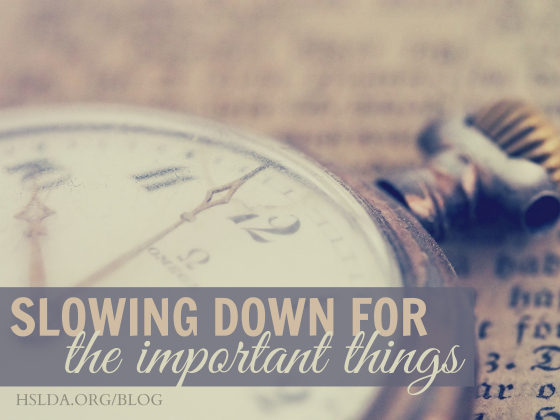 BLG SZ - Slowing Down for Important Things 1 - AK - HSLDA Blog