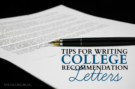 BLG SZ - Tips for Writing College Recommendation Letters - DK - HSLDA Blog