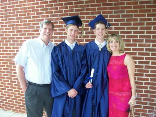 Austin and Justin on graduation day, May 25, 2012. Next step, College!