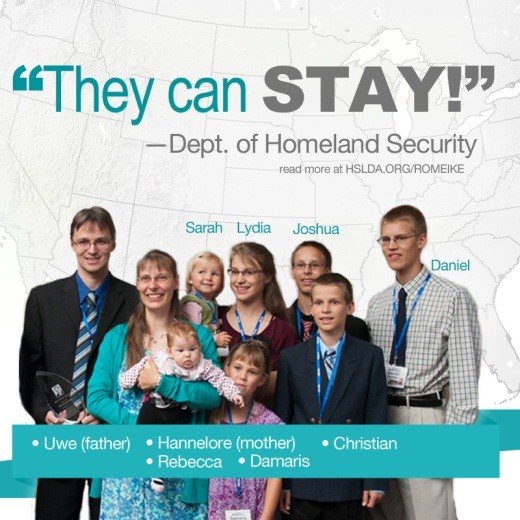 The DHS Tells Romeike Family -You Can Stay- CK - HSLDA Blog