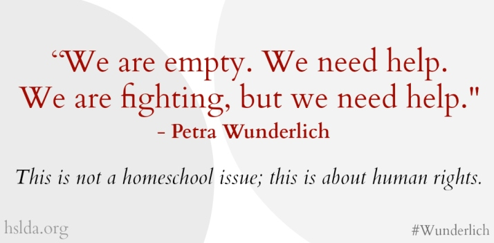 Wunderlich Family - We are fighting, but we need help 2 - CK - HSLDA Blog