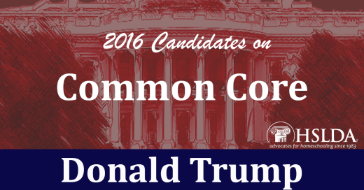 Donald Trump | Candidates on Common Core