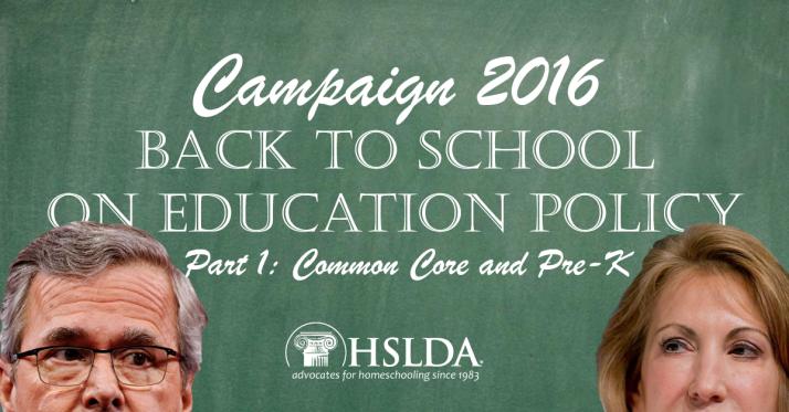 Presidential Candidates go Back to School on Education Policy in New Hampshire | Part 1: Common Core and Pre-K - HSLDA Blog