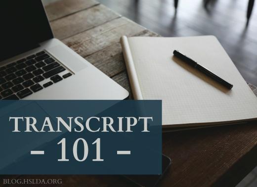 Transcript 101 | HSLDA Blog