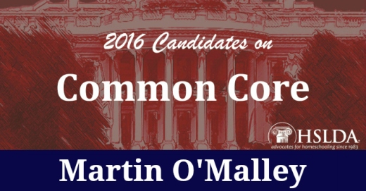 Martin O Mally Header - Candidates on Common Core - Andrew Mullins - HSLDA Blog