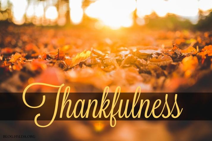 OR Thankfulness - Amy Koons - HSLDA Blog