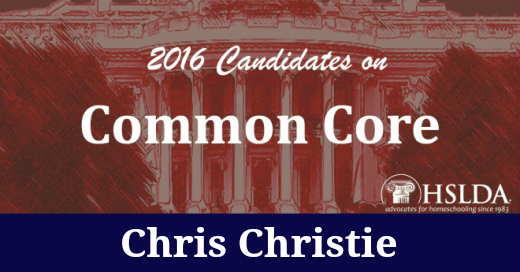 Chris Christie   Candidates on Common Core