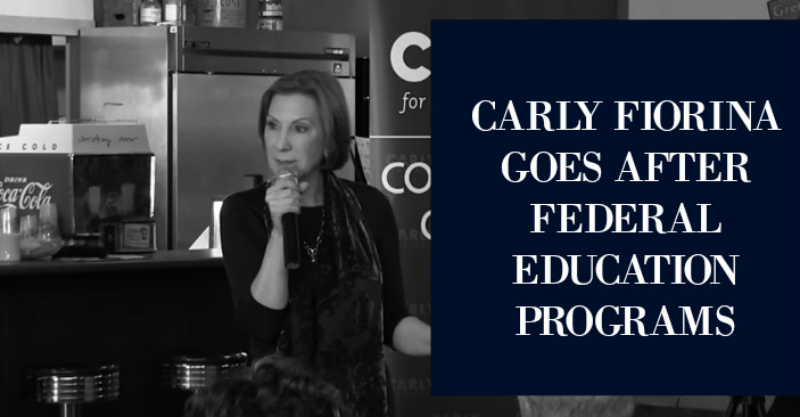BLG SZ - Carly Fiorina Goes After Federal Education Programs - HSLDA Blog