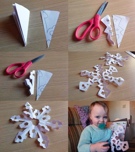 Craft Time Making Paper Snowflakes 4 - Carolyn Bales - HSLDA Blog