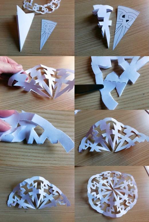 Craft Time Making Paper Snowflakes 5 - Carolyn Bales - HSLDA Blog