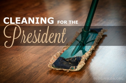 Cleaning for the Prez | HSLDA Blog