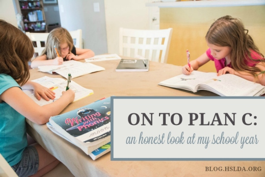 On to Plan C: An Honest Look at my School Year | HSLDA Blog
