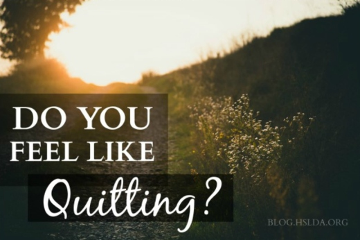 Do You Feel Like Quitting? | HSLDA Blog