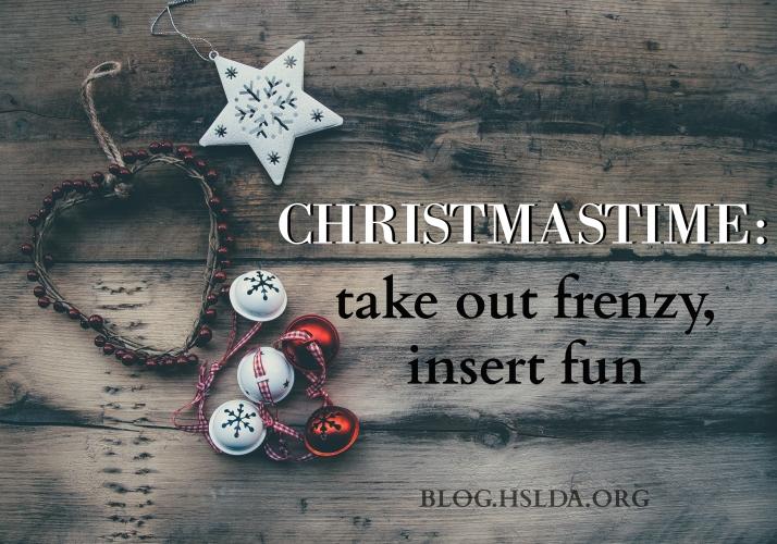 Christmastime Take out Frenzy Insert Fun - Amy Koons - HSLDA Blog.jpg