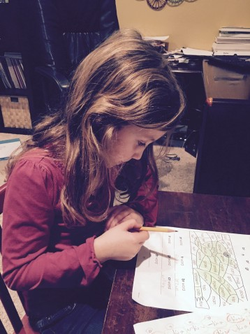 Amy_Koons - Daughter Doing Homework