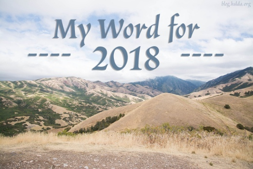2018_1_16 - My Word for 2018