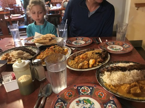 2018_11_28 - The kids weren't so sure about Afghan food at first